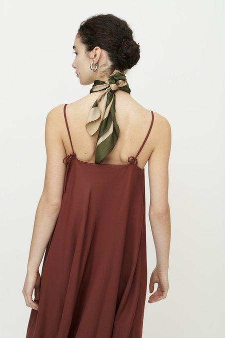 Kowtow Dawn Slip Dress - Mahogany