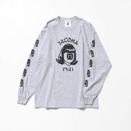 Tacoma Fuji Records ORIENTALES '20 Long Sleeve T Shirt - Heather Grey