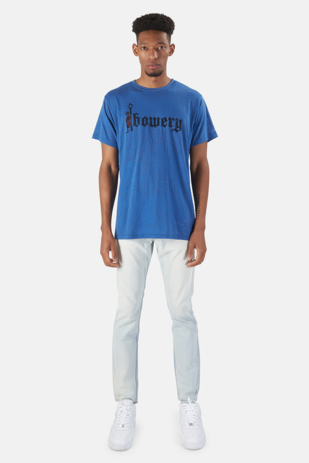 Blue&Cream Red Man Burnout Graphic Tee - new blue