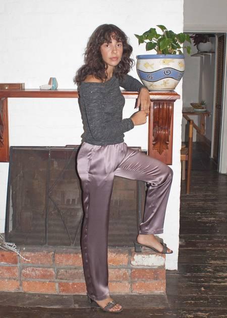 permanent vacation Utopia Silk Pants - Plum