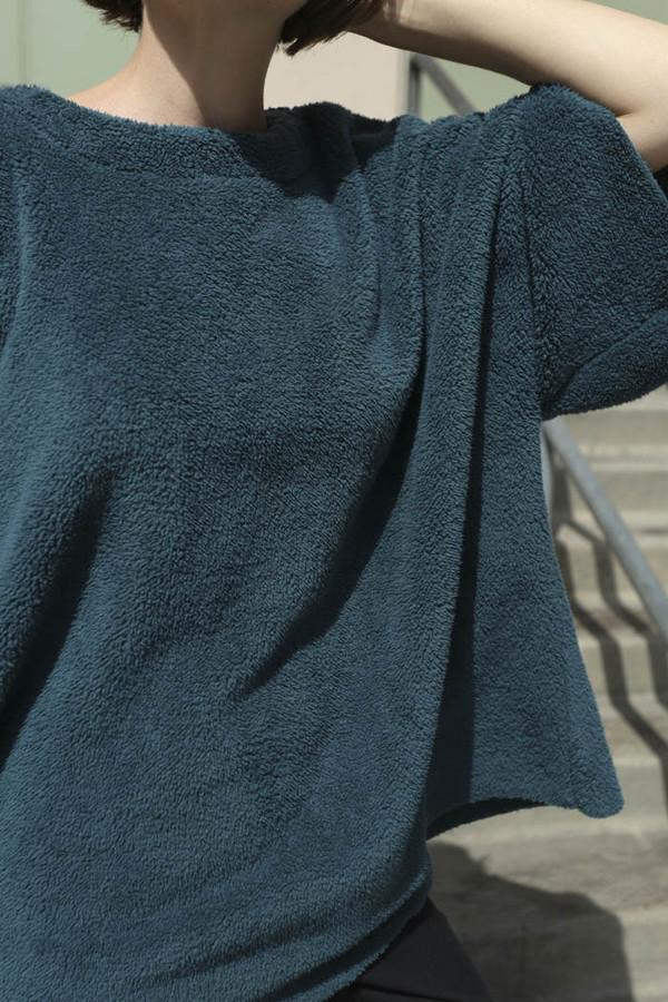 Carleen Big Fuzzy Shirt in Pine