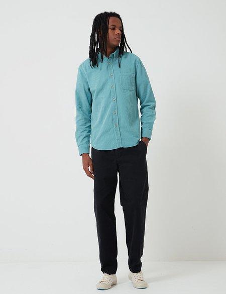 Portuguese Flannel Lobo Corduroy Shirt - Turquoise