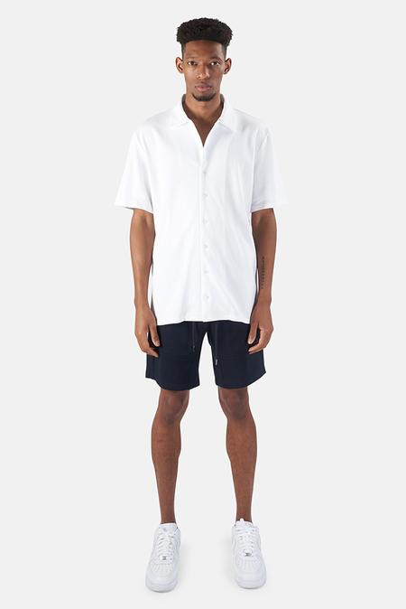 Wheelers.V Short Sleeve Pique Shirt - White