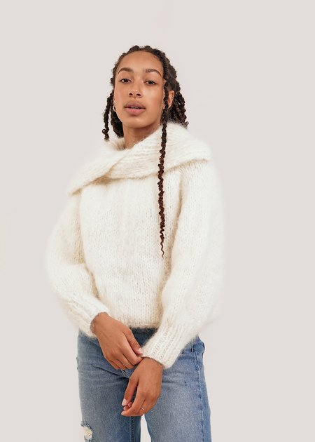 Frisson Knits Stephanie Sweater - Cream