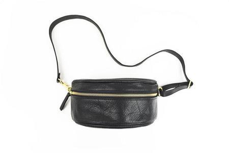 Primecut Leather Bum Bag - black