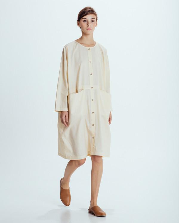 Revisited Matters Raincoat Dress in Cream