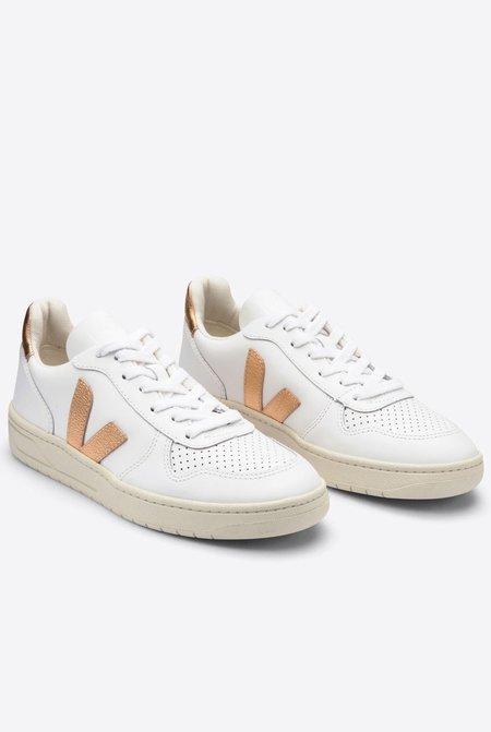 VEJA V10 Leather Sneakers - Extra White/Venus