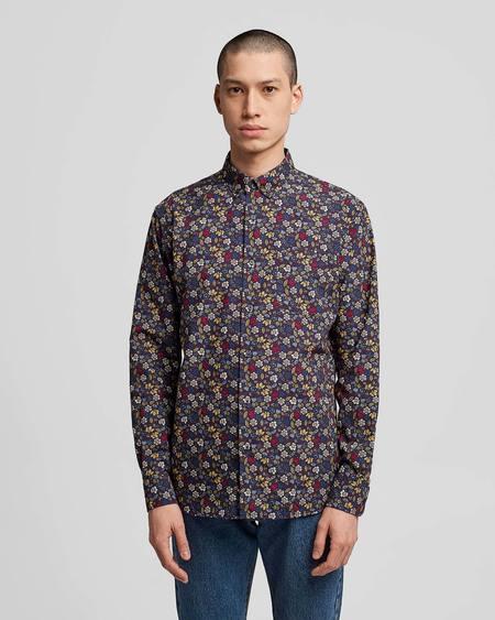 Poplin & Co Casual Button Down Long Sleeve Shirt - Floral Burst Print