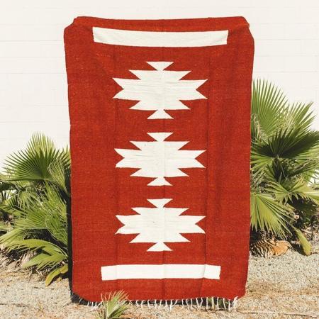 Petra De Luna Palenque Blanket - Rust