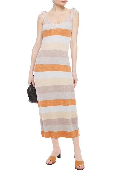 Charli Leora Dress - Peach Stripe