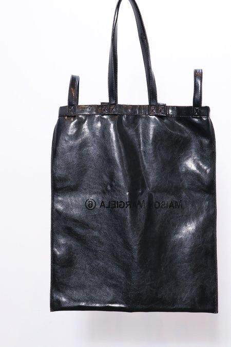 MM6 Maison Margiela Logo Faux Leather Bag