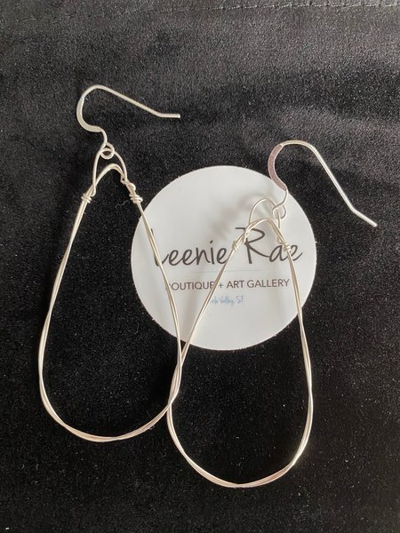 Emma Rose Designs Small Triangle Hoops - Sterling Silver