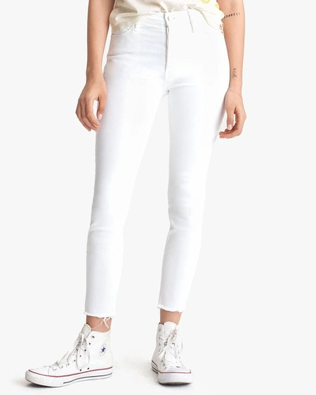 Mother The Stunner Ankle Fray Jeans - Fairest Of Them All