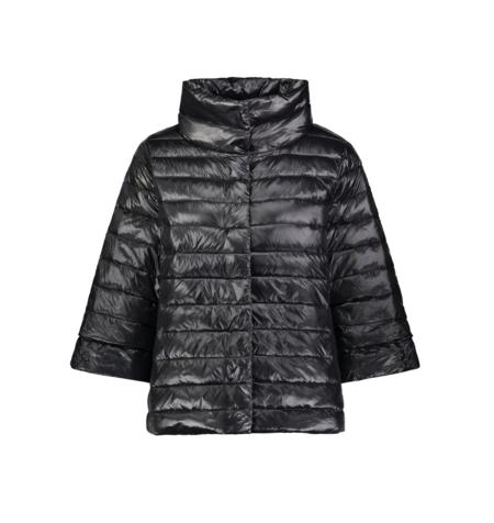 My Anorak Crop Sleeve Puffer Jacket - Black