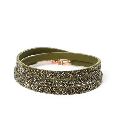 She.Rise Triple Bracelet - Olive/Dorado