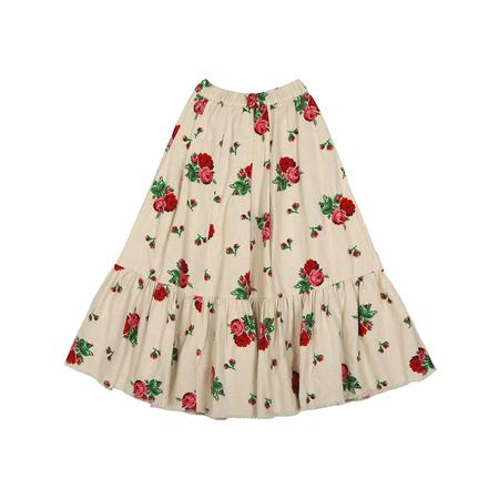 KIDS Tambere Biel Maxi Skirt - CREAM ROSE PRINT