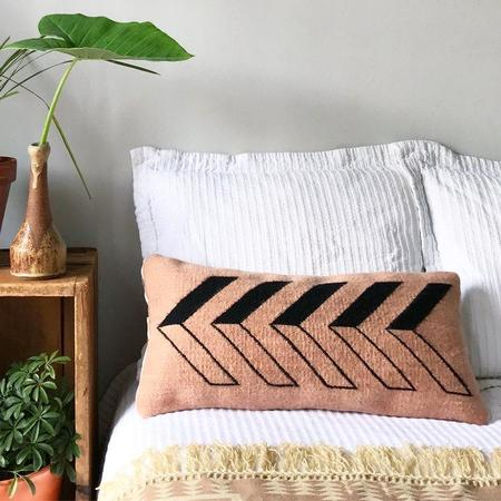 Agave Supply Frontera Small Lumbar Pillow Cover - Sand