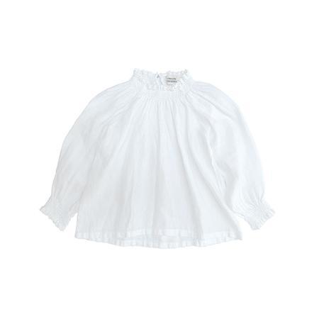 Kids Long Live the Queen Linen Blouse - White