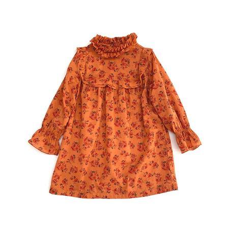 Kids Long Live the Queen Volant Dress - Kurkuma