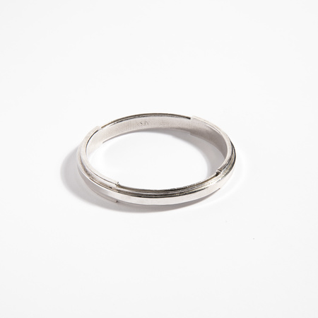 Aesa Water de Luz Bangle #3 - Silver Plate