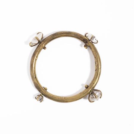 Unearthen Jewelry Bangle Bracelet - Quartz / Brass