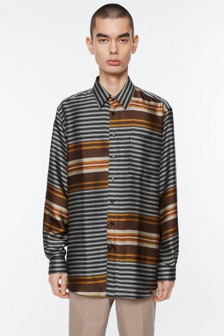 Schnayderman's Non Binary Liquid Stripe Shirt - Multi Colour Stripe
