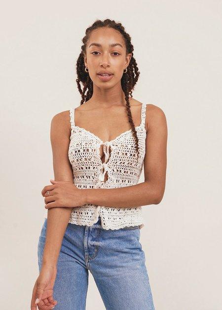 Shereen Mohammad Zaira Handmade Camisole Crochet Top - White