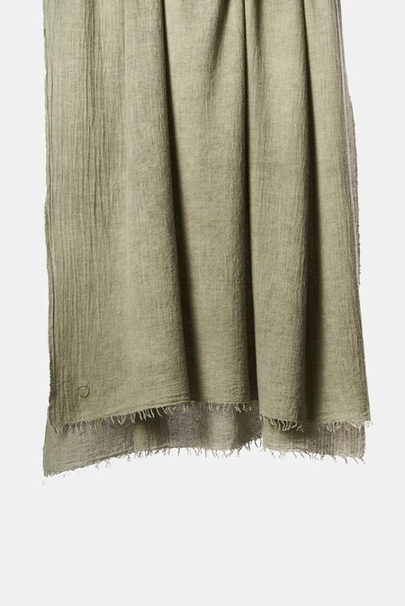 Oyuna Ambra Woven Luxury Wool and Cashmere Throw - Moss
