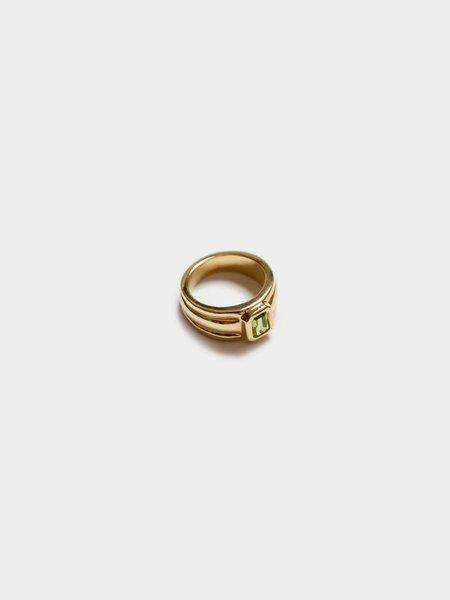 Wolf Circus Peridot Rectangle Ring