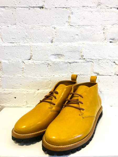 Cappelletti Desert Lace Up Boots - Yellow