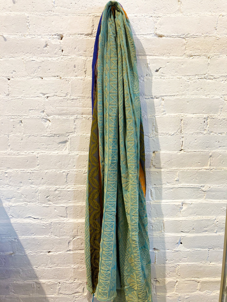 Catherine André Beausoleil Scarf - Turquoise