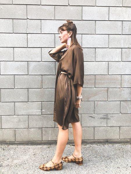 Miranda Bennett O'Keefe Dress Silk Charmeuse - Badlands