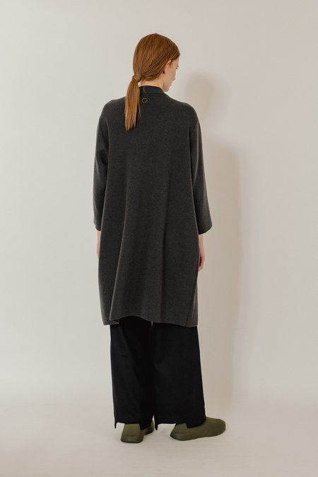 Oyuna Jana Knitted Luxurious Cashmere Belt Coat - Earth