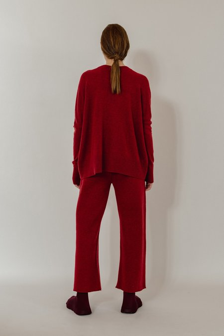 Oyuna Mara Knitted Wool Blend Pullover - Star Red