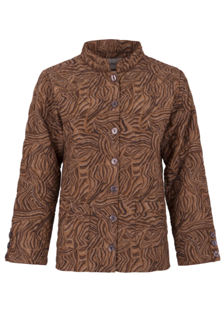 Helmstedt Quilted Jacket - Chocolate Swirl