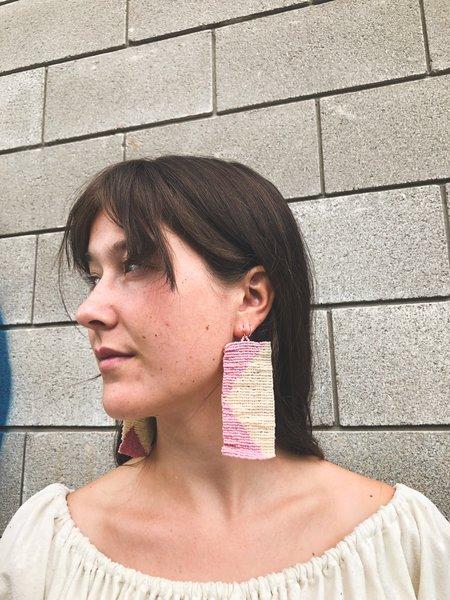 Salihah Moore Sasha Earrings - 14kt gold fill/peach/lilac