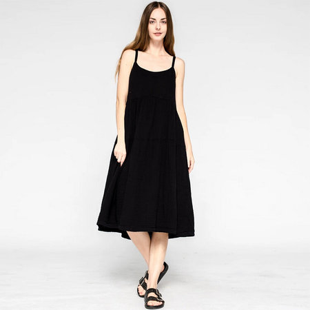 Wilt Tiered Slip Dress - Black