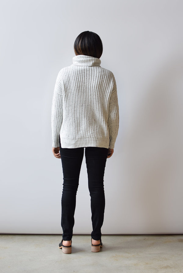 Lush Speckled Turtleneck Sweater