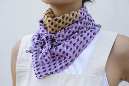 Block Shop Textiles Kiki Square Scarf - Orchid