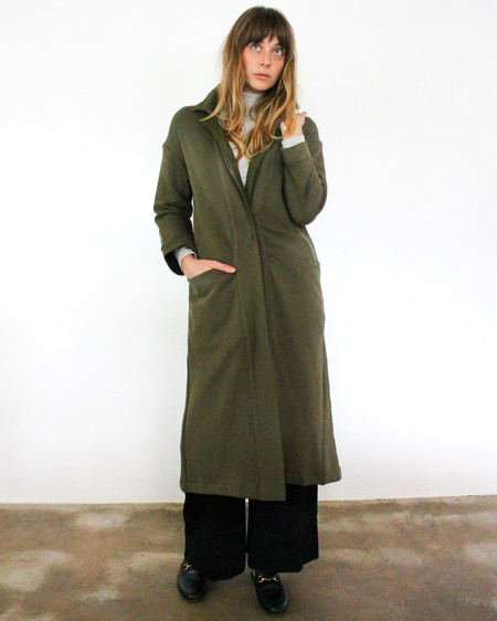 esby RAMONA KNIT DUSTER - OLIVE