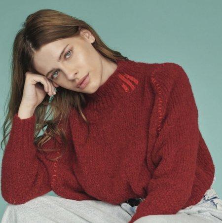 Alba Sea of U Sweater - Red
