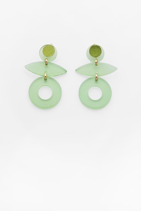 Valet Studio Evie Earrings - Green