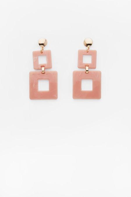 Valet Studio Toucan Earrings - Pink