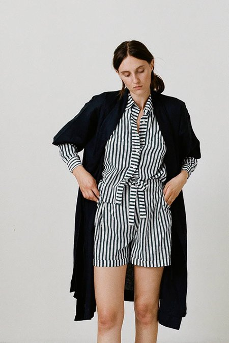 Karu Cotton Pajama Set - Midnight Stripe