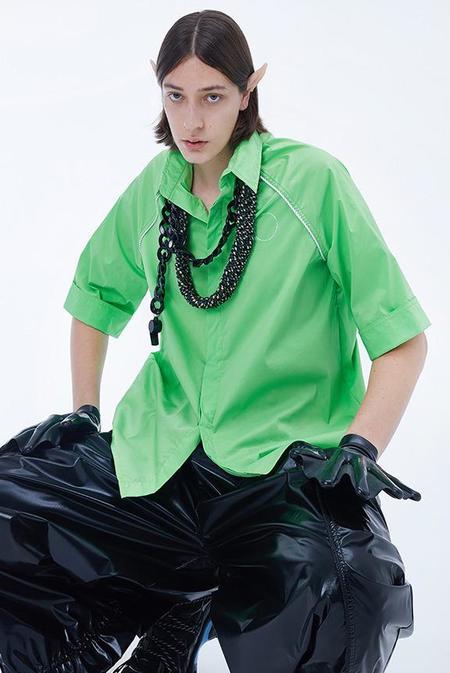 NUTEMPEROR Xenotransplantation Drawstring Shirt - Green