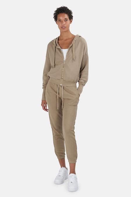 NSF Kaia Zip Hoodie Sweater - Taupe