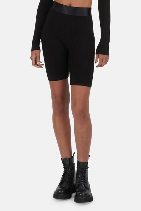 The Range Rib Biker Short - Black