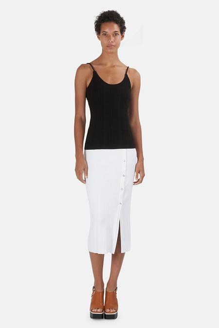 The Range Wave Rib Button-Up Skirt - White