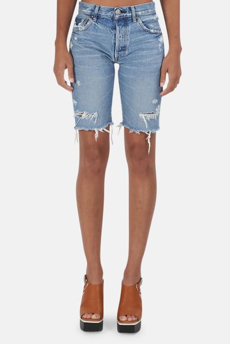 Moussy Trosper Bermuda Shorts - Light Blue