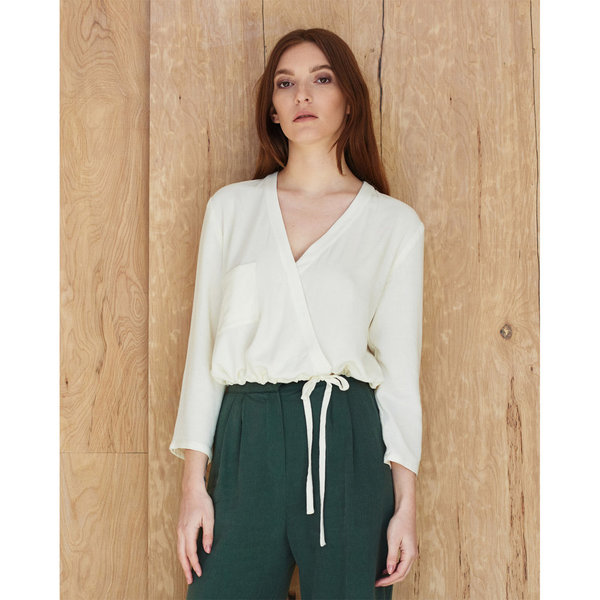 First Rite Crossover Blouse